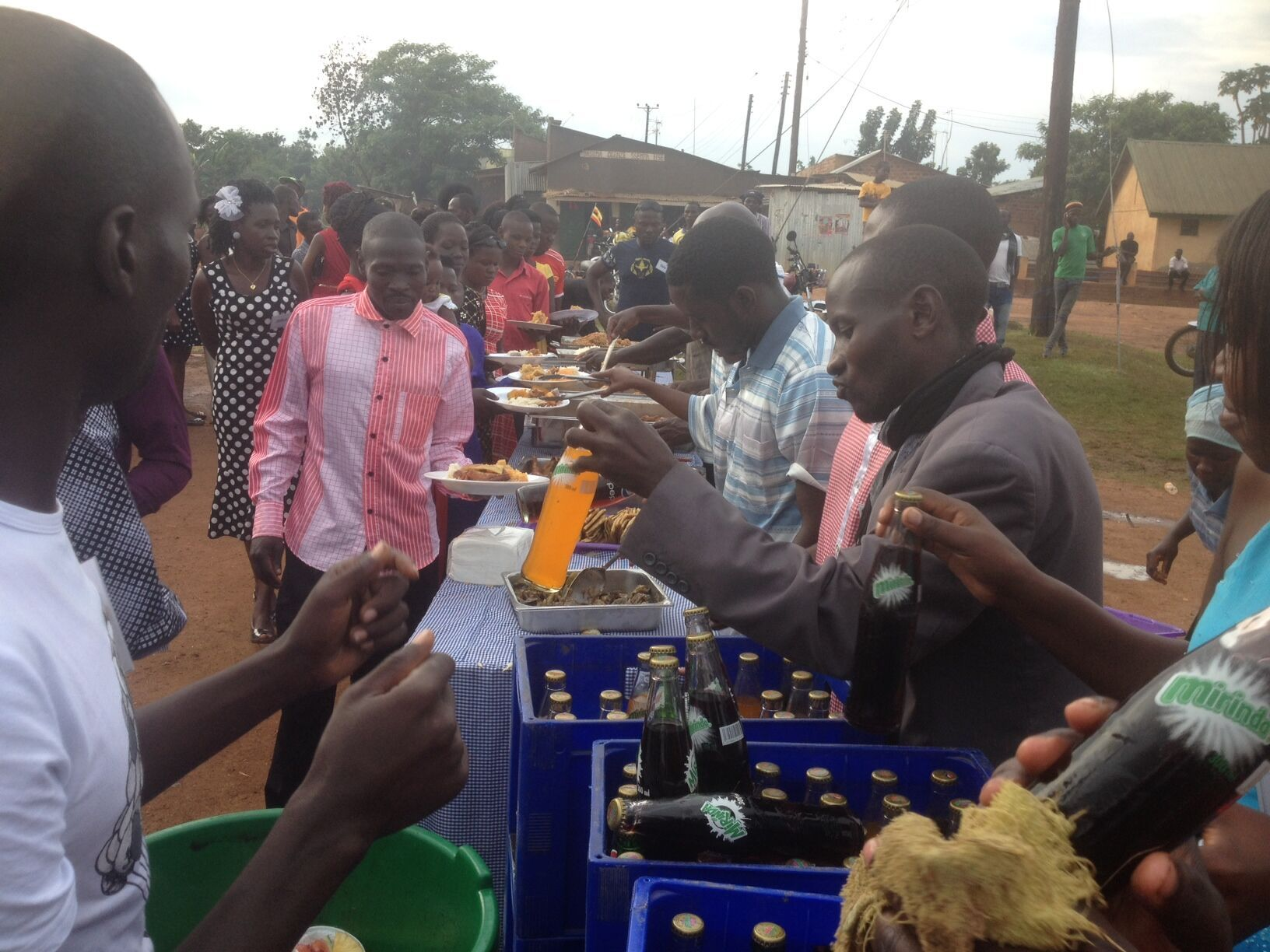 Bedrijfsfeest Uganda