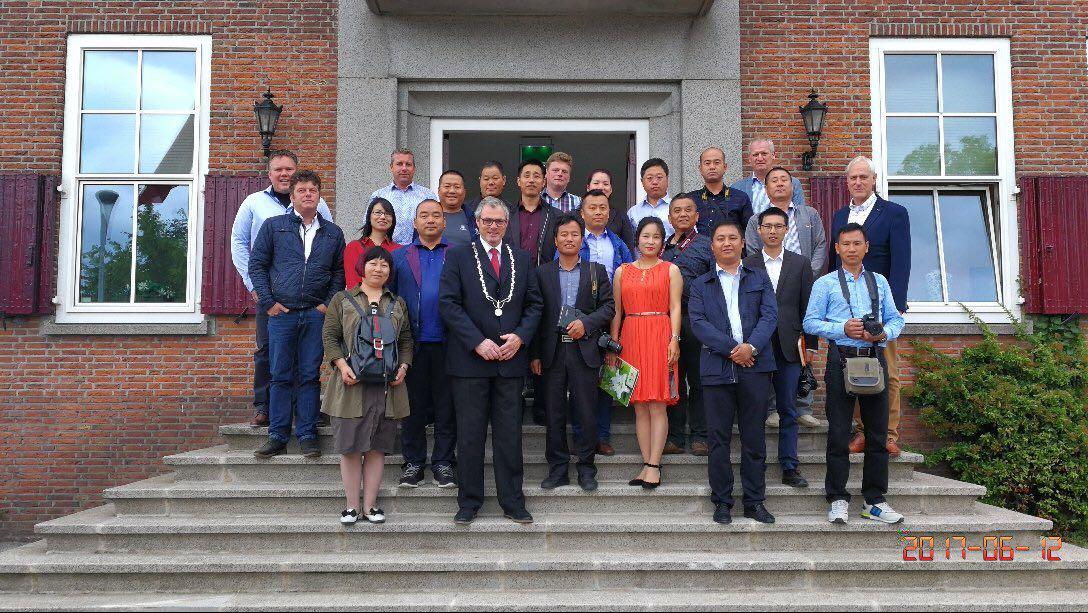 Groep Chinezen bezoekt het TCO-gebied