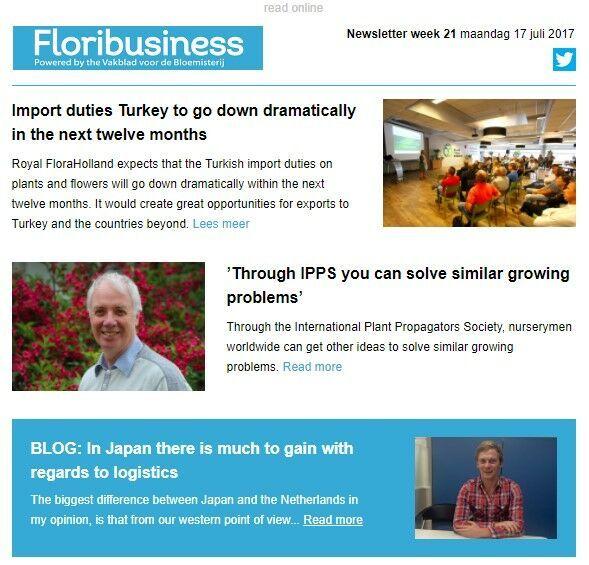 Floribusiness newsletter voorbeeld