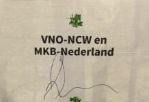 Handtekening van VNO NCW onder de Groene Charta.