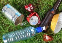 Afval in park
