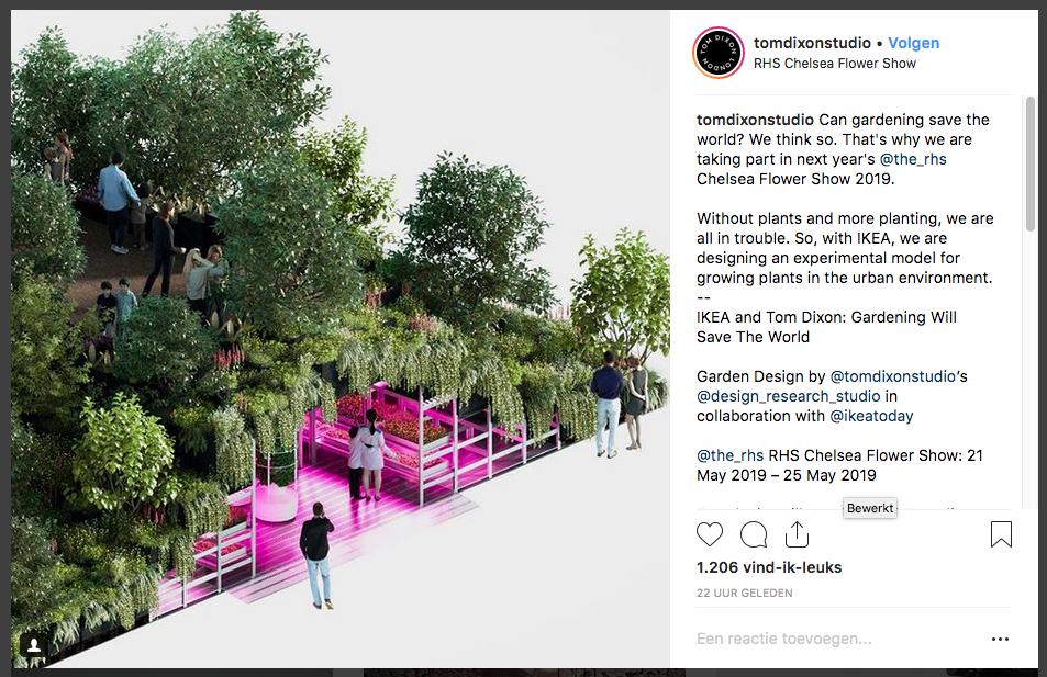 Tom Dixon - Chelsea Flower Show 2019 - IKEA