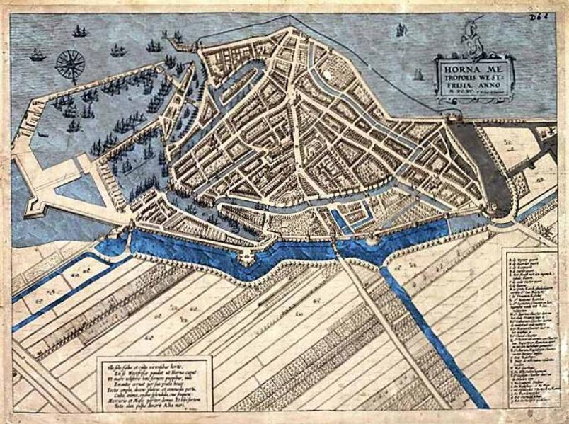 Oude kaart Hoorn - RCE