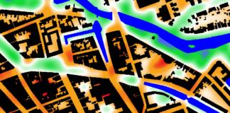 Hittestress-kaart
