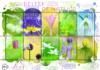 Postzegels met stinzenplanten
