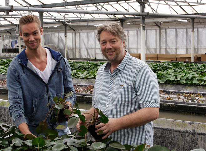 Waterplantenkweker Chris en Simon van der Velde