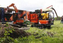 Afgraven en verhitten grond Japanse duizendknoop