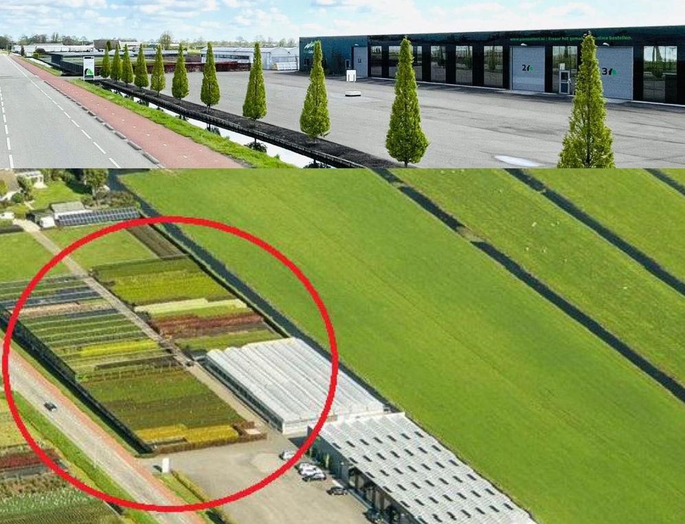 De locatie van PlantCollect aan de Voshol in Boskoop
